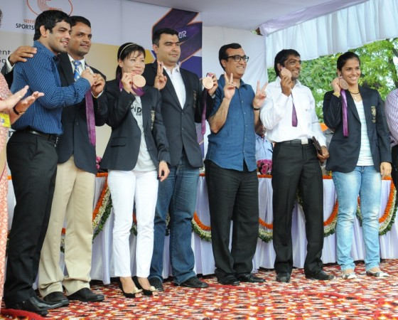 Felicitation function for India's achievers at the 2012 London Olympic