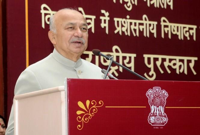 Indian Home Minister Sushil Kumar Shinde