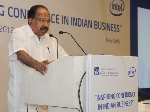 Union Petrol and Natural Gas Minister Veerappa Moily (a file photo of PIB)