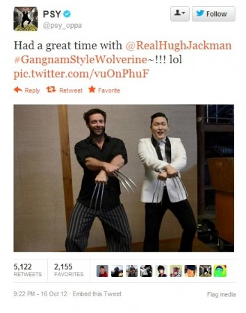 Gangnam Style Wolverine: Hugh Jackman Tweets 'Oppan' Moment with PSY