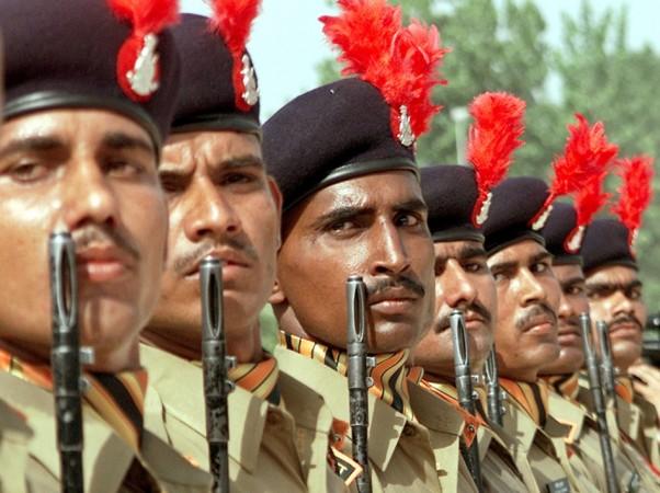 New recruits of the Indo-Tibetan Border Police (ITBP)