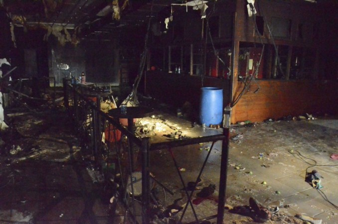 A view inside the Boate Kiss nightclub destroyed by a fire is seen in the southern city of Santa Maria