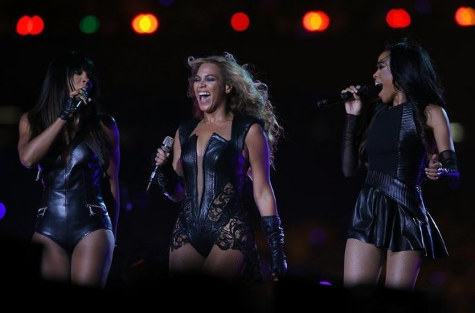 Beyonce (C) and Destiny's Child perform during the half-time show of the NFL Super Bowl XLVII football game in New Orleans, Louisiana