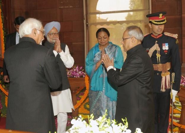 Shri Pranab Mukherjee, Hamid Ansari, Meira Kumar, Manmohan Singh