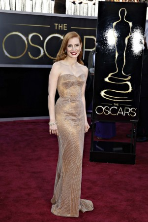 Jessica Chastain arrives at the 85th Academy Awards in Hollywood (Reuters)