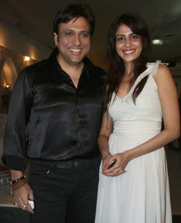 Govinda (L) with Genelia D'Souza (Reuters)