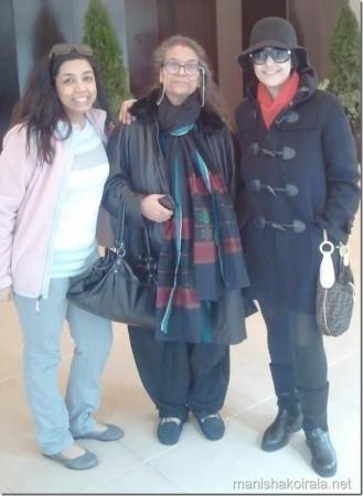 Manisha was with her mom, Sushma Koirala and Mridula Koirala. (manishakoirala.net)