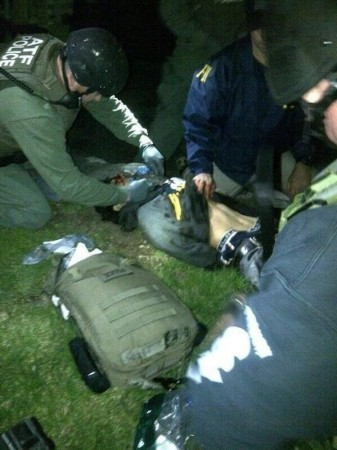 Boston Marathon bombing suspect Dzhokhar A. Tsarnaev is taken into custody Friday night in Watertown, Mass.
