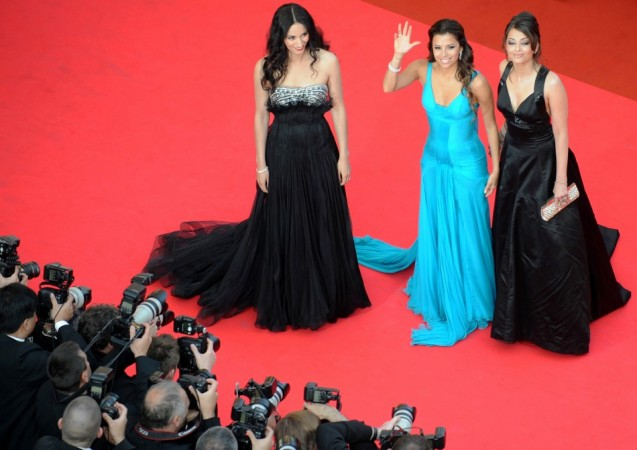 Actresses (L to R) Rachida Brakni, Eva Longoria Parker and Aishwarya Rai arrive for the screening of Brazilian director Fernando Meirelles' film