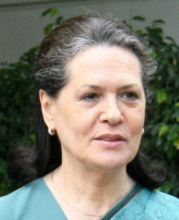 President of the Indian National Congress Sonia Gandhi