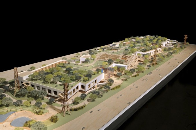 Artist's rendering of Facebook's West Campus to be built in Menlo Park (Credit: Reuters)