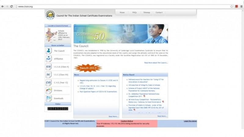 ICSE website hacked