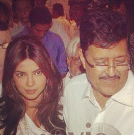 Priyanka Chopra with her Father Dr. Ashok Chopra