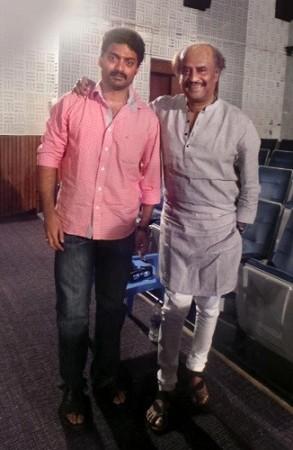 Kalyan Ram with Rajinikanth