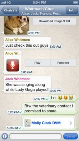 Whatsapp is available free for iPhone users from today