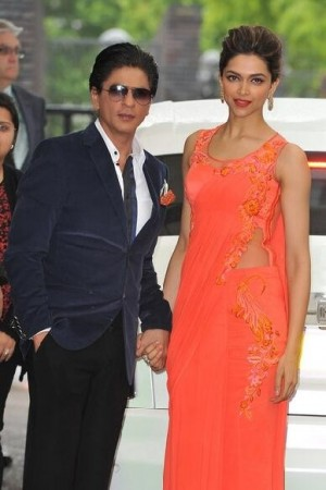 Deepika Padukone and Sharukh Khan