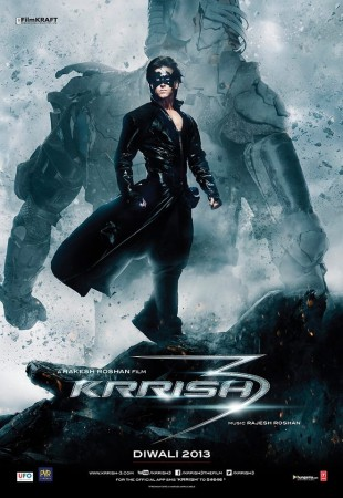Krrish 3 Offical Poster (Facebook Official Page of Krrish 3)