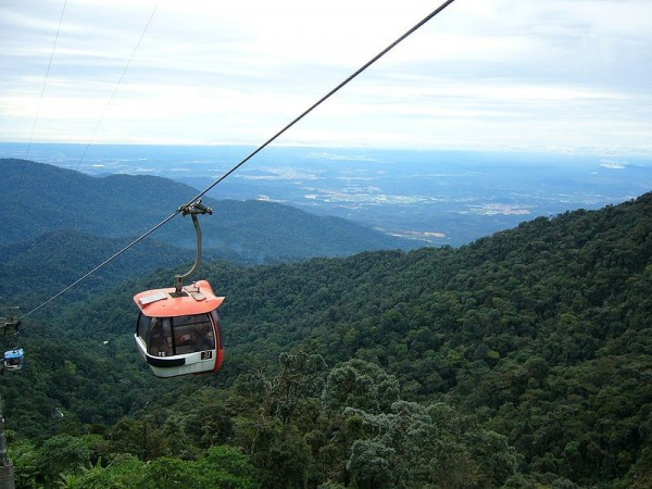 Cabing view of the Genting Skyway