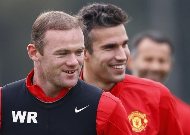 Van Persie Rooney Manchester United