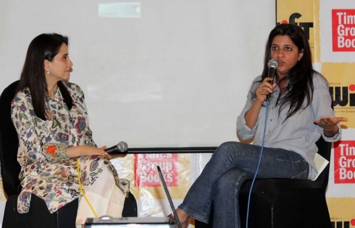 Zoya Akhtar with Anupama Chopra at her book launch (Varinder Chawla)