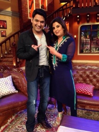 Farah Khan with Kapil Sharma on CNWK (Kapil Sharma Twitter)
