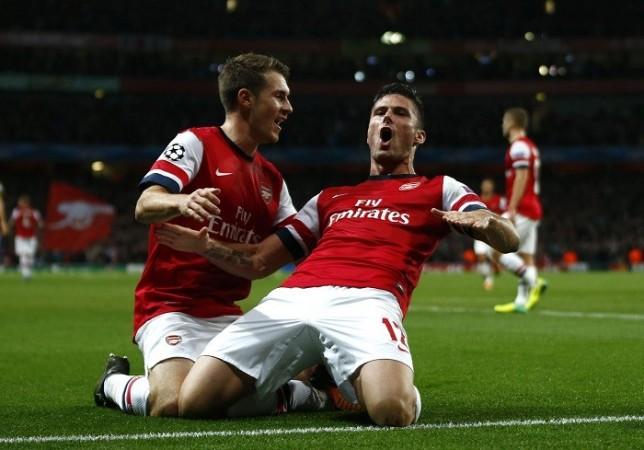Giroud Arsenal Ramsey