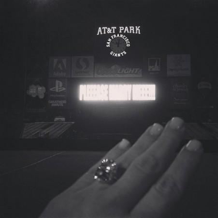 Kim Kardashian Shares Engagement Ring Photo on Instagram
