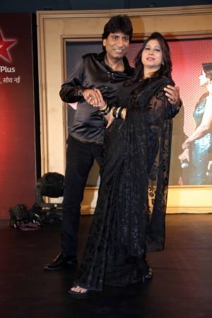 Comedian Raju and Shika Shrivastav (photo Varinder Chawla)
