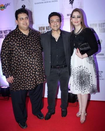 Pakistani Singer Adnan Sami and family  (photo Varinder Chawla)