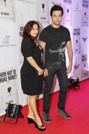 Younger brother Rohit Roy and wife Mansi follows (photo Varinder Chawla)