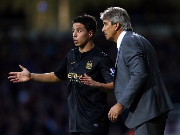 Nasri Pellegrini Manchester City