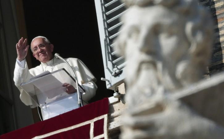 Pope Francis leads the Angelus prayer
