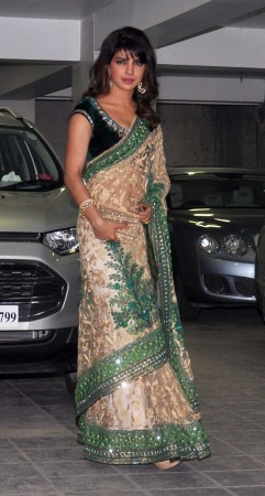 Priyanka Chopra Goes Traditional for the party (Varinder Chawla)