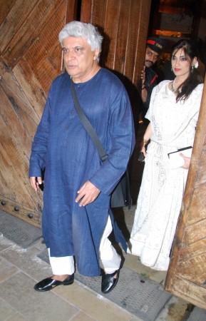 Javed Akhtar at the bash (Varinder Chawla)