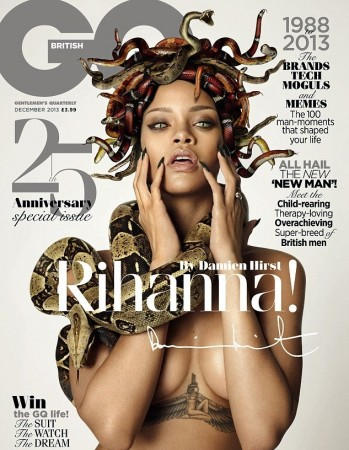 Rihanna Poses As Nude Medusas For British GQ