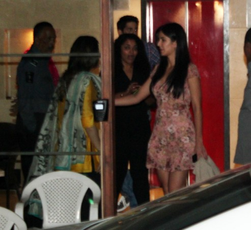 Katrina pats Kareena before departing (Varinder Chawla)