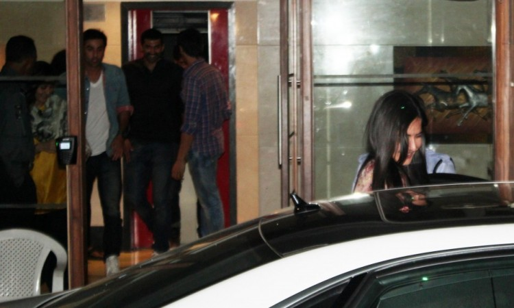 Ranbir and Aditya follow Katrina out of the venue (Varinder Chawla)