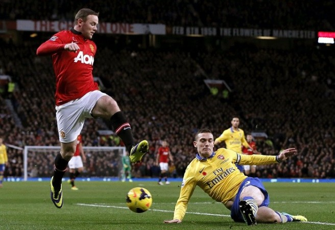 Vermaelen Arsenal Rooney Manchester United
