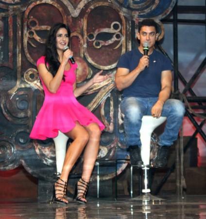 Aamir Khan and katrina Kaif at the Dhoom 3 event on Thursday (Varinder chawla)