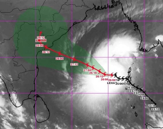 Forecast of Cyclone Lehar during next few days