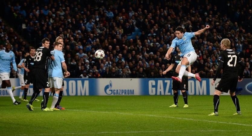 Nasri scored a brace against Swansea