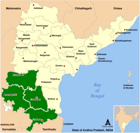 Four districts of Rayalaseema to be divided during the bifurcation