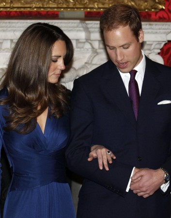 Top 10 Most Expensive Engagement Rings. Pictured: Princess Kate Middleton and Prince William (Photo: Reuters)