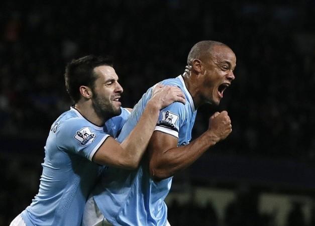 Kompany Negredo Manchester City