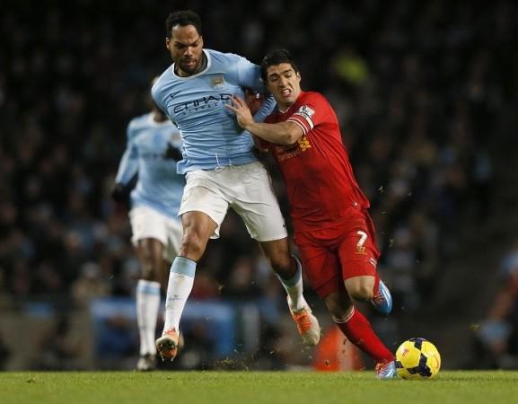 Lescott Suarez Manchester City Liverpool