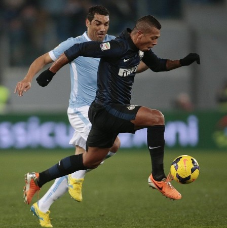 Fredy Guarin Andre Dias Lazio Inter Milan