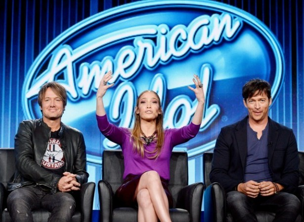American Idol's new judging panel Keith Urban, Jennifer Lopez, and Harry Connick Jr,