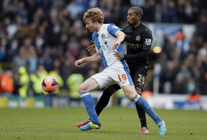 Blackburn Chris Taylor Fernandinho Manchester City