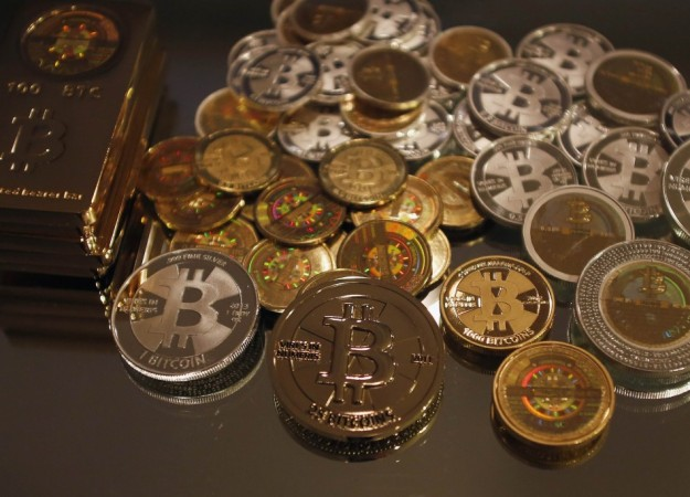 Some of Bitcoin enthusiast Mike Caldwell's coins are pictured at his office in Sandy, Utah, September 17, 2013.Caldwell produces physical coins Bitcoins, which have been around since 2008, and have become a form of electronic money that can be exchanged w