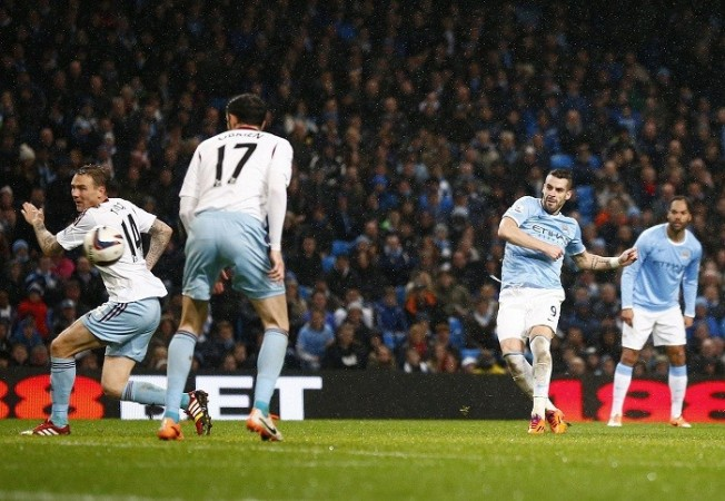 Alvaro Negredo Manchester City West Ham